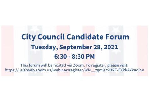 City Council candidate forum, Sept. 28, 2021